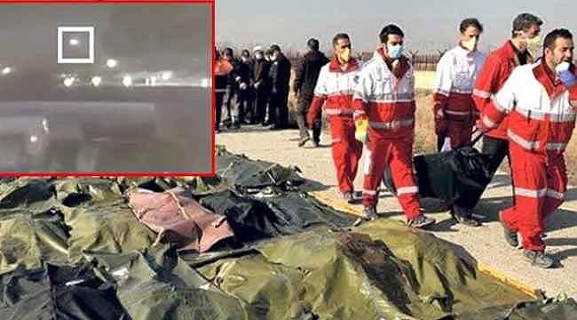 İran'da vurulan yolcu uçağıyla ilgili yeni görüntüler ortaya çıktı