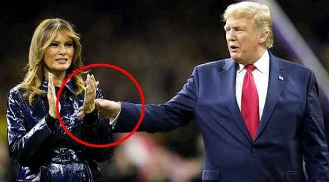 Melania Trump yine yaptı yapacağını... Herkes canlı yayında izledi