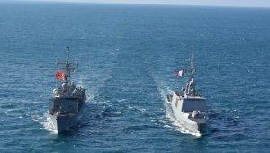"""MSB: """"Doğu Akdeniz'de Fransız fırkateyni ile geçiş eğitimleri icra edildi"""""""