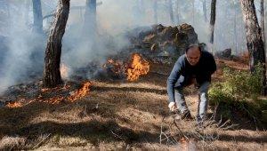 Muğla'da kış ortasında orman yangını