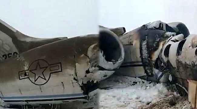 Taliban, ABD askeri personelini taşıyan uçağı düşürdü, kurtulan olmadı
