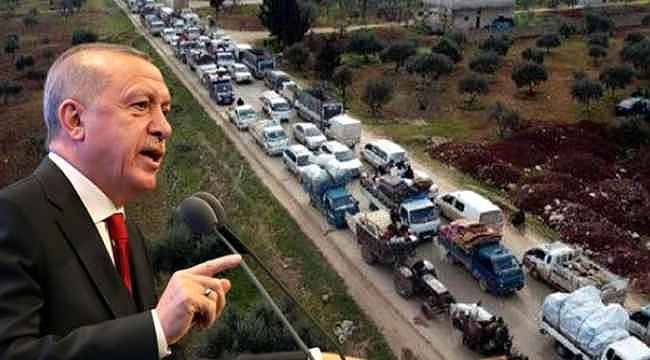 Türkiye sınırındaki bu görüntüyle ilgili Cumhurbaşkanı Erdoğan'dan açıklama!