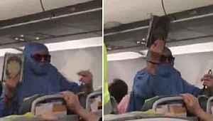 """Uçakta 'FETÖ'cüyüm"""" diye bağıran kadının ceza ehliyeti tespit edilecek"""