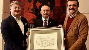 Yerli otomobil (TOGG) heyeti Kemal Kılıçdaroğlu'nu ziyaret etti!