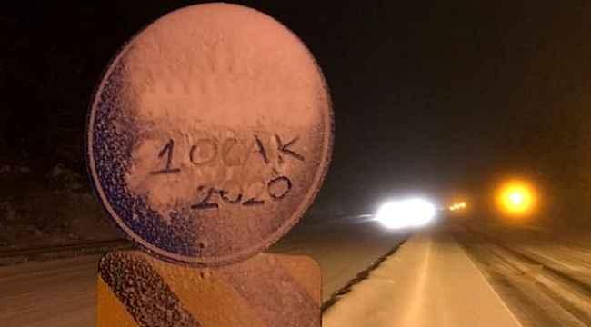 Yola çıkacaklar dikkat, kar yağışı etkisini arttırdı!