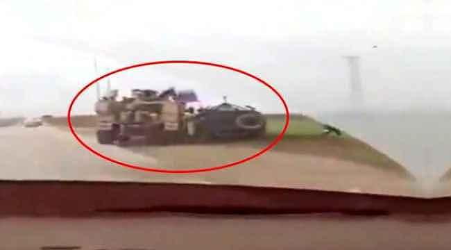 ABD zırhlı aracı, Rus askeri polisine ait aracı yoldan çıkardı