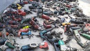 Ankara polisi çalıntı 380 adet elektrikli inşaat malzemesini tek tek buldu