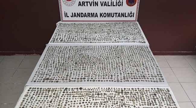 Artvin'de 4 bin 45 sikke ele geçirildi
