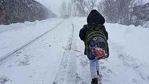 Bir şehirde daha eğitime kar molası