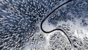 Bolu'dan masalsı kar manzaraları