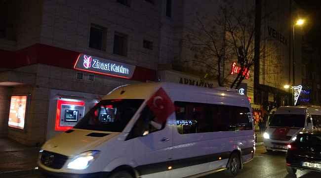 Bursa'da şehitler için birlik ve beraberlik konvoyu - Bursa Haberleri