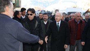 CHP Lideri Kemal Kılıçdaroğlu, Malatya'da deprem bölgesinde