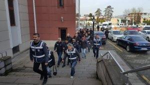 Düzce'de terör örgütü sempatizanları, adliyede