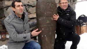 Erzurum'da 2 bin 500 yıllık 'Taş Baba' heykeli bulundu