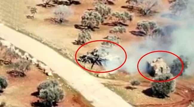 İdlib'de muhaliflerin rejim tankını kovaladığı anlar kamerada
