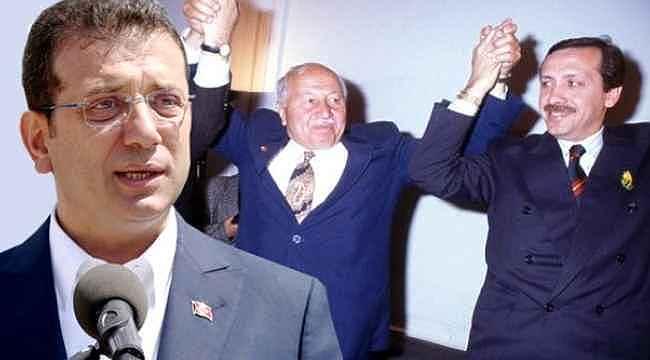 İmamoğlu, Erbakan'ı bu fotoğrafla andı... Gönderme yapmayı da ihmal etmedi