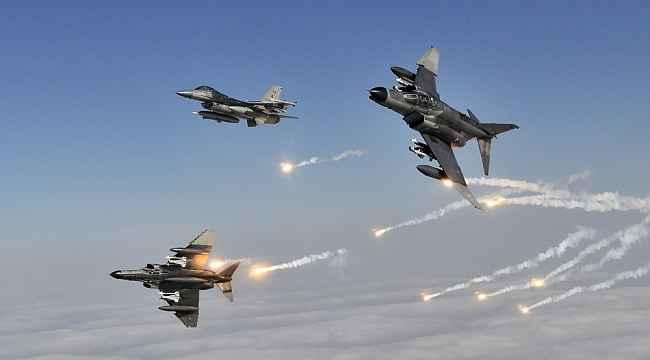 Irak'ın kuzeyine hava harekatı ile 6 PKK'lı etkisiz hale getirildi