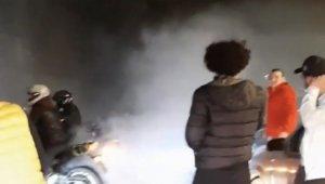 İstanbul'da asker uğurlama terörü kamerada
