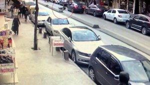 İstanbul'da yaşlı kadının dehşeti yaşadığı kaza kamerada