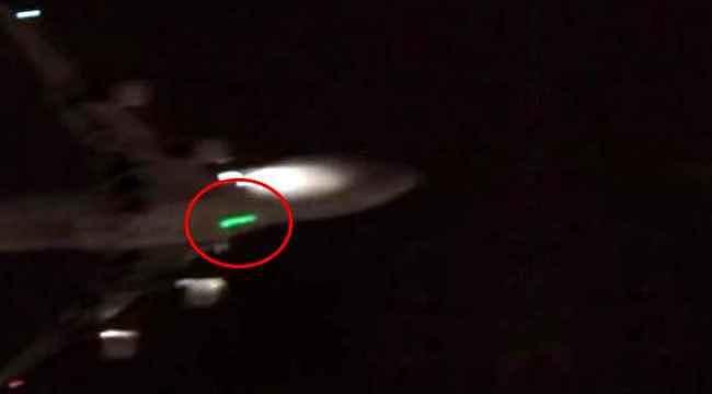Kargo uçağını lazer ile taciz ettiler