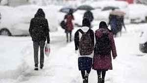 Kayseri ilçelerinde okullar tatil edildi
