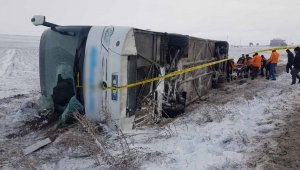 Kayseri'de otobüs şarampole devrildi: 43 yaralı