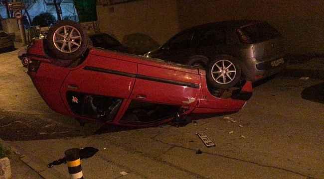 Kontrolden çıkan otomobil takla attı: 1 yaralı - Bursa Haberleri