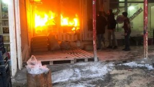Mazıdağı'nda korkutan yangın
