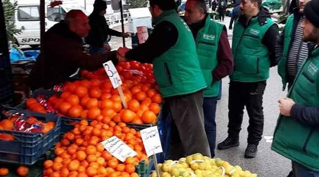 Mudanya üretici pazarlarında denetim - Bursa Haberleri