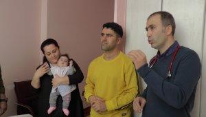 Nadir görülen hastalığına yakalanan Hira bebek için 60 bin euroluk ilaç yurt dışından getirildi