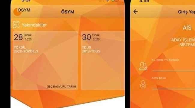 ÖSYM mobil uygulamaları erişime açıldı