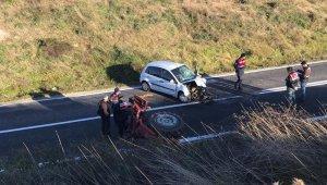Otomobille traktör kafa kafaya çarpıştı: 1 ölü, 1 yaralı
