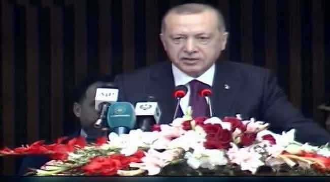 Pakistan'da konuşma yapan Erdoğan'ın sözleri sık sık alkışlandı