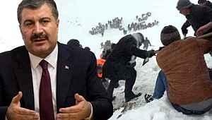 Sağlık Bakanı Koca'dan Van'daki çığ faciası için korkutan açıklama