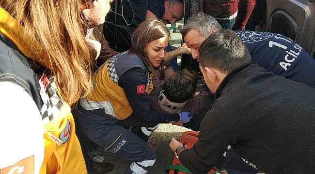 Samsun'da otomobil devrildi: 1 yaralı