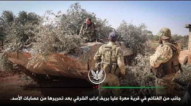 Serakib, Suriye Milli Ordusu'nun kontrolüne geçti