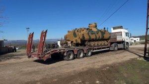 Sınıra ZBT ve zırhlı iş makinesi sevkiyatı
