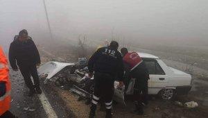 Sis kaza getirdi: 4 yaralı