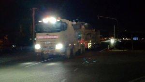 Suriye sınırına tank ve ZPT sevkiyatı