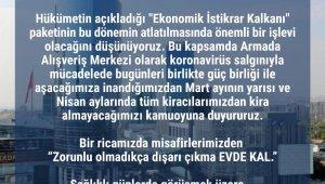 """AVM yönetimlerinden Kovid-19 tedbirleri: """"Kira alınmayacak"""""""