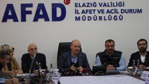 Bakan Soylu, Devletin Elazığ ve Malatya'ya gönderdiği yardım tutarını açıkladı