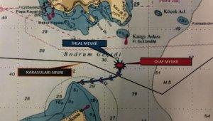 Bodrum açıklarında sıcak anlar... Karasularımıza giren Yunan botu çıkartıldı