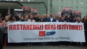 """Bursa'da """"Hastanemizi geri istiyoruz"""" eylemi"""