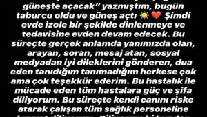 """Buse Terim Bahçekapılı: """"Babam taburcu oldu ve güneş açtı"""""""