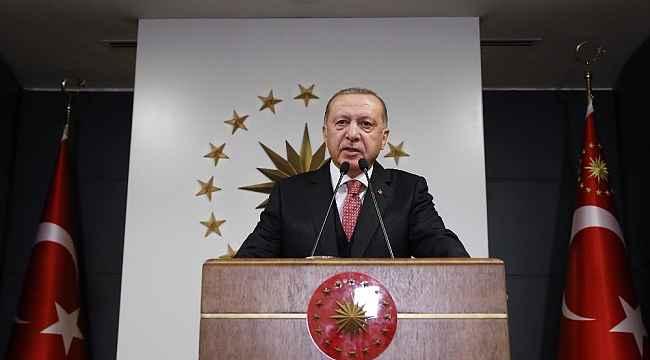 """Cumhurbaşkanı Erdoğan: """"'Biz Bize Yeteriz Türkiyem' kampanyasını 7 aylık maaşımı bağışlayarak açıyorum"""""""