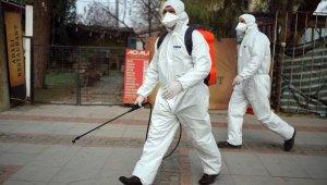 Edirne'de göçmenlerin bulunduğu bölgeye korona virüs önlemi