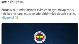 Fenerbahçe'den 'Evde Kal' çağrısı