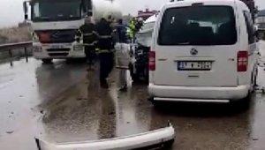 Gaziantep-Adana otobanında zincirleme trafik kazası: 6 yaralı