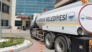 Gemlik Belediyesi'nden kurumlara dezenfeksiyon desteği - Bursa Haberleri