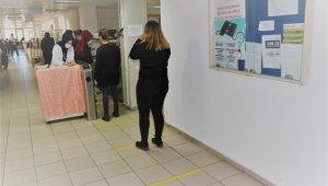 Hastanelerde sosyal mesafe önlemi - Bursa Haberleri